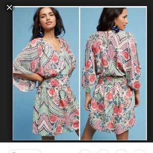 Anthropologie Maeve Colorful fun print dress
